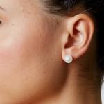 Σκουλαρίκια με λευκά μαργαριτάρια σε ασημένια βάση 925 - S418937