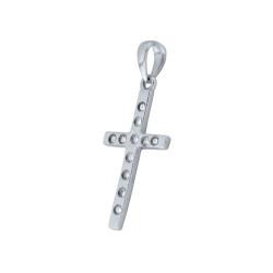 Χρυσός Κ18 σταυρός με διαμάντια - M315001