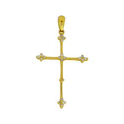 Χρυσός σταυρός με διαμάντια - M315129