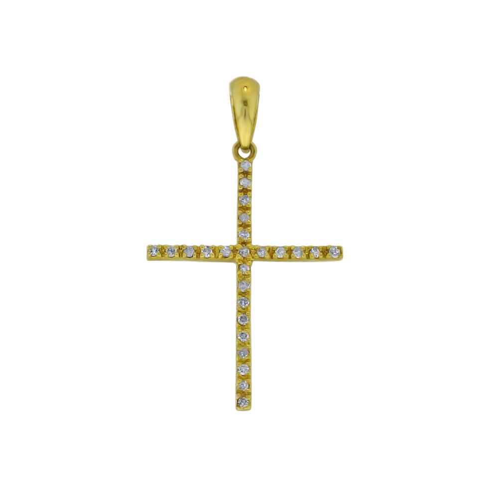 Χρυσός σταυρός με διαμάντια - M315717 57a45996655