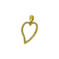 Μενταγιόν Κ18 χρυσό με διαμάντια - M315722